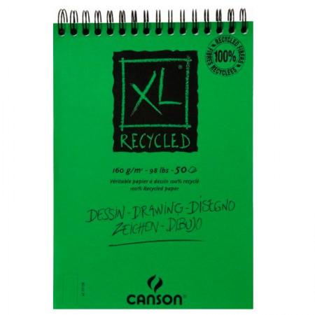 Bloco Reciclado XL espiral A3 160gr - com 50 folhas - Canson