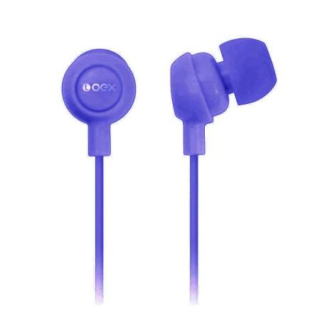 Fone de ouvido Auricular roxo - FN100/RO - Oex