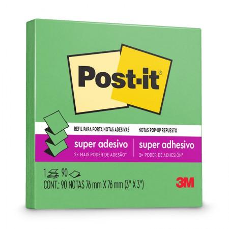 Bloco Post-It R-330 refil - limão - com 90 folhas - 3M