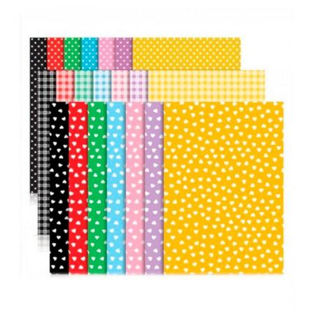 Bloco ecocores com estampa visual 180g - 230x320mm - 36 folhas com 7 cores - Novaprint