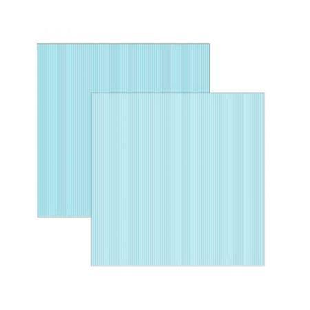 Folha de scrapbook azul bebê listras - unidade - 8543 - Toke e Crie