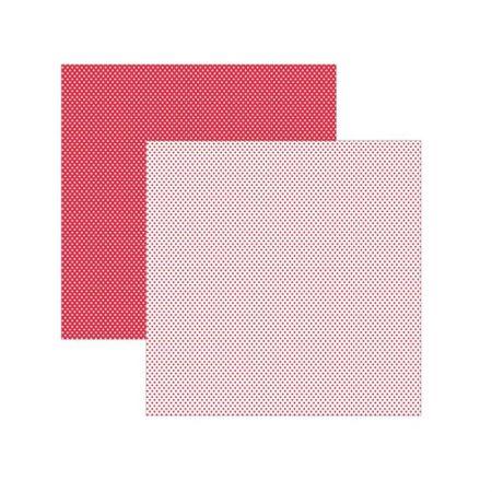 Folha de scrapbook vermelho poá bolinha - unidade - 11029 - Toke e Crie