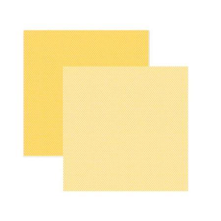 Folha de scrapbook amarelo poá bolinha - unidade - 13740 - Toke e Crie