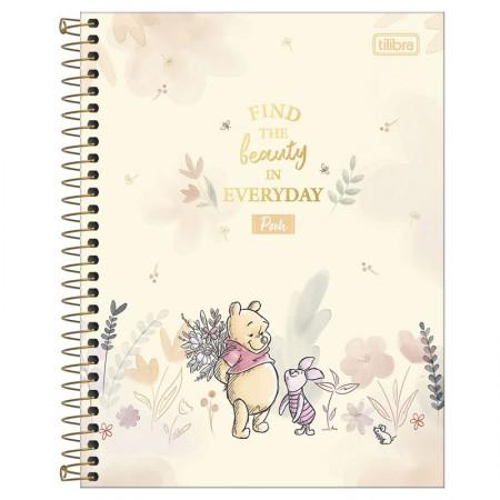 Caderno colegial capa dura 1x1 - 80 folhas - Pooh - Capa 1 - Tilibra
