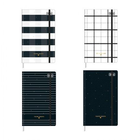 Caderno capa dura costurado grande pontilhado - 80 folhas - West Village - Tilibra