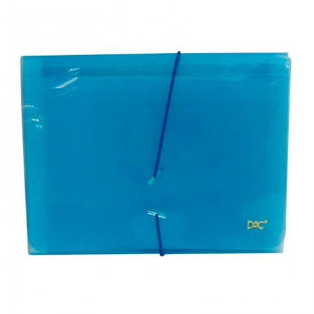 Pasta sanfonada duplicata 31 divisões azul 6020PP-AZ - Dac