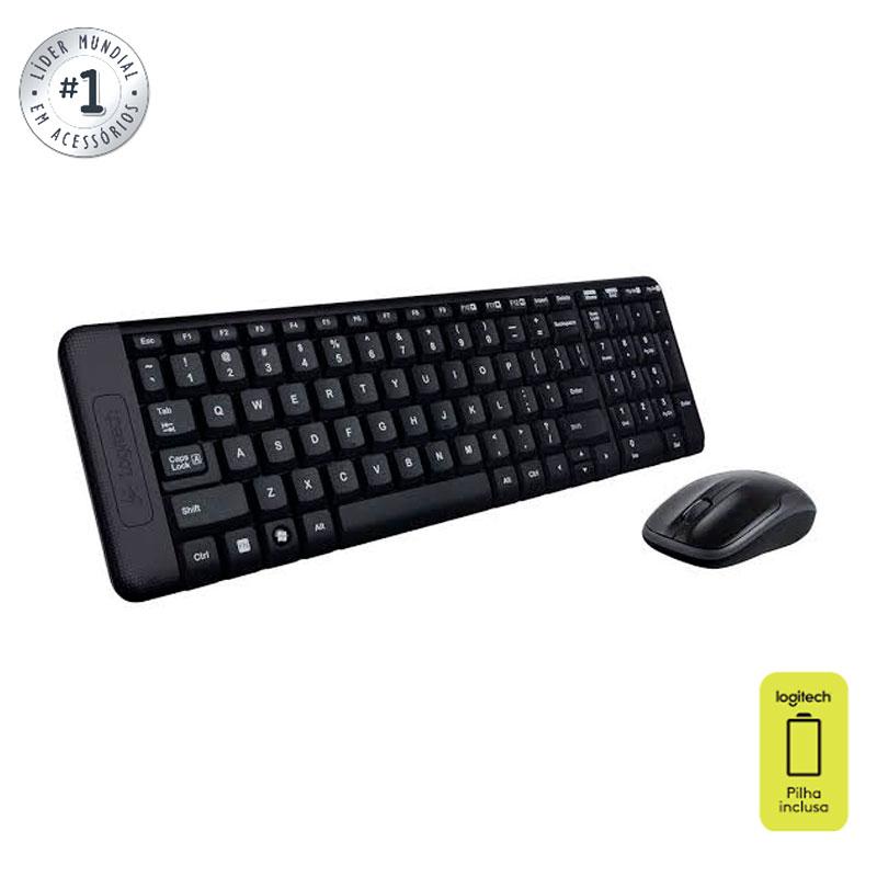 Teclado e mouse sem fio MK220 - Logitech