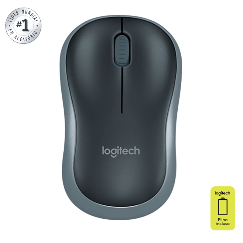 Mouse sem fio M185 preto - Logitech