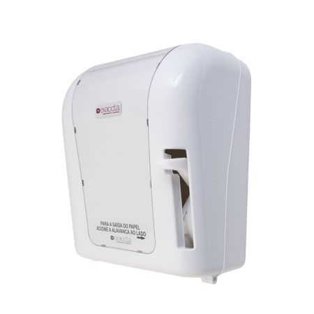Toalheiro para papel toalha bobina com alavanca -  E-DBAL506 - Branca - Exaccta