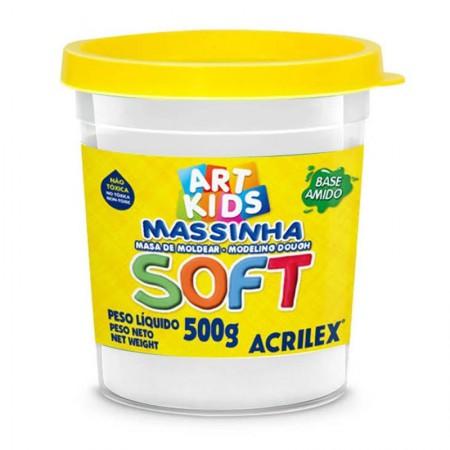 Massa de modelar Soft 500g - Branco 418 - Acrilex