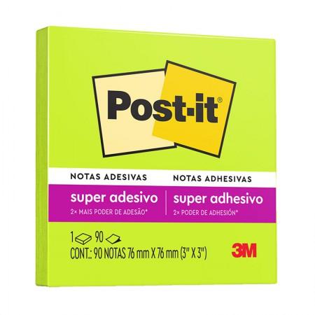 Bloco Post-It 654 - verde neon - com 90 folhas - 3M