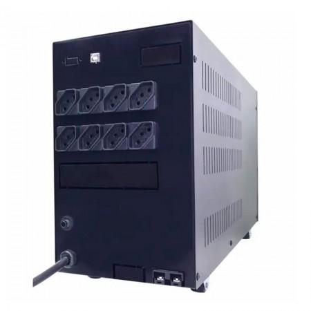 No-break 110v 1200VA preto - UPS Compact Pro 408 full range - 6 tomdas - Ts Shara