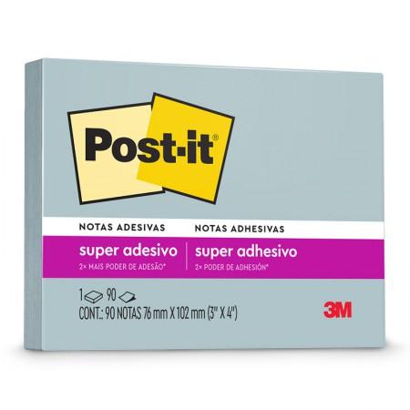 Bloco Post-It 657 reciclado - azul - com 90 folhas - 3M