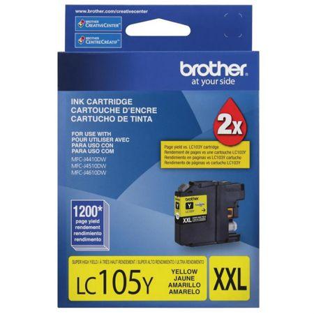 Cartucho Brother LC105Y - amarelo 1200 páginas