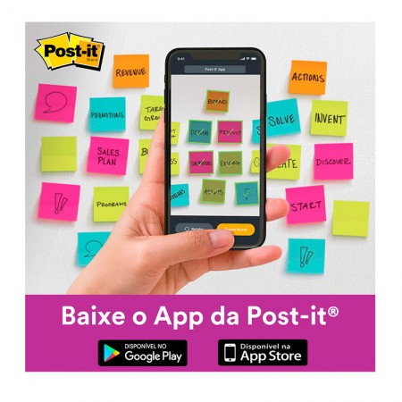 Bloco Post-It 654 - pink neon - com 90 folhas - 3M