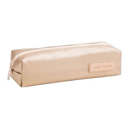 Estojo escolar com ziper - 313807 - West Village Metalizado Dourado - Tilibra