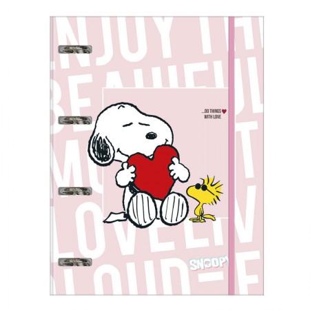 Fichário universitário com 4 argolas - Snoopy - 295213 - Tilibra