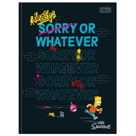 Caderno brochurão capa dura universitário 1x1 - 80 folhas - Simpsons - Capa 1 - Tilibra
