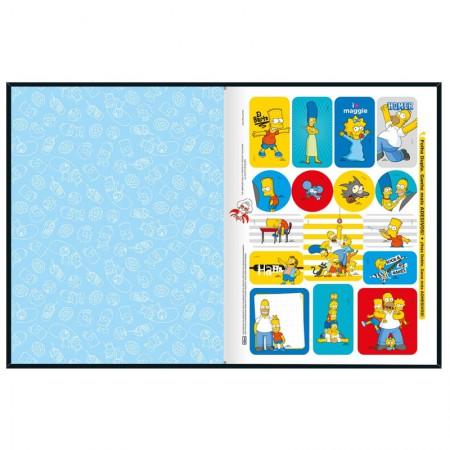 Caderno brochurão capa dura universitário 1x1 - 80 folhas - Simpsons - Capa 3 - Tilibra
