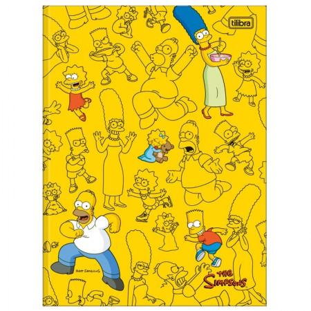 Caderno brochurão capa dura universitário 1x1 - 80 folhas - Simpsons - Capa 4 - Tilibra