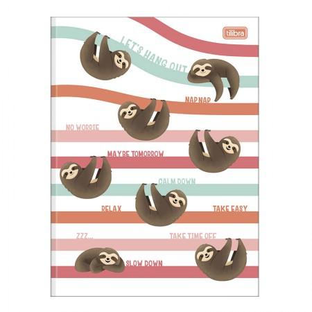 Caderno brochurão capa dura universitário 1x1 - 80 folhas - Nap Nap preguiça - Capa 2 - Tilibra