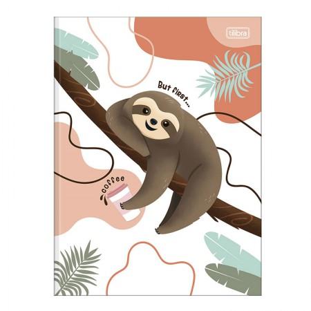 Caderno brochurão capa dura universitário 1x1 - 80 folhas - Nap Nap preguiça - Capa 4 - Tilibra