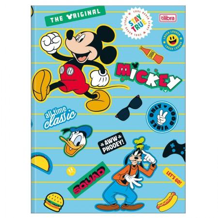 Caderno brochurão capa dura universitário 1x1 - 80 folhas - Mickey - Capa 1 - Tilibra