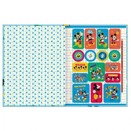Caderno brochurão capa dura universitário 1x1 - 80 folhas - Mickey - Capa  4 - Tilibra