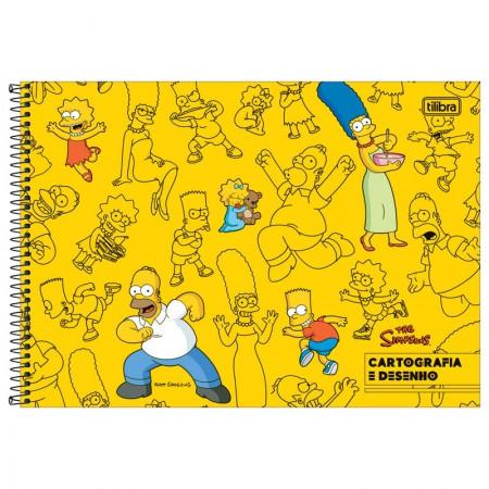 Caderno espiral capa dura cartografia - 80 folhas - Simpsons - Capa 2 - Tilibra