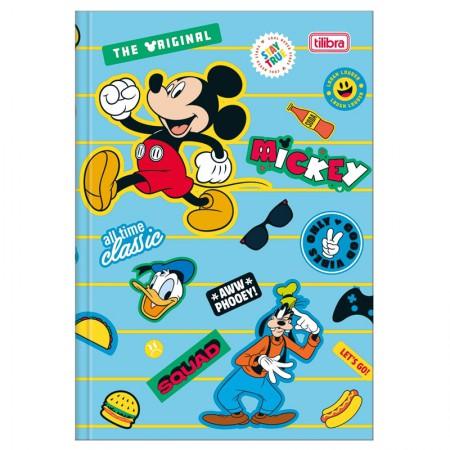 Caderno brochura capa dura 1/4 - 80 folhas - Mickey - Capa 1 - Tilibra