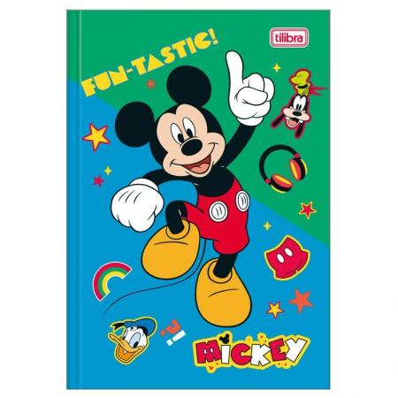 Caderno brochura capa dura 1/4 - 80 folhas - Mickey - Capa 2 - Tilibra