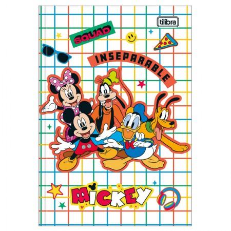 Caderno brochura capa dura 1/4 - 80 folhas - Mickey - Capa 3 - Tilibra