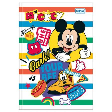 Caderno brochura capa dura 1/4 - 80 folhas - Mickey - Capa 4 - Tilibra