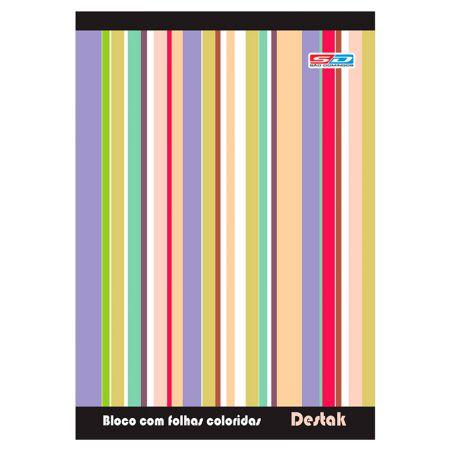 Bloco de anotações Destak com 200 folhas coloridas - São Domingos
