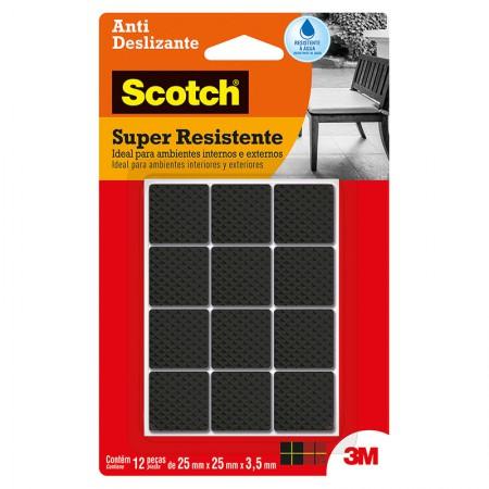 Feltro anti risco Scotch preto - quadrado - M - 3M