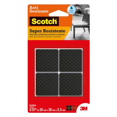Feltro anti risco Scotch preto - quadrado - GG - 3M