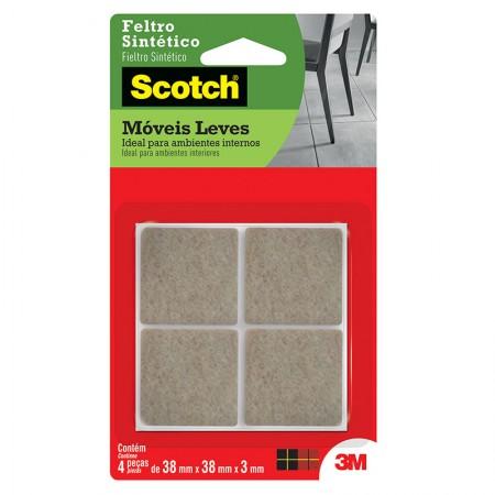 Feltro Scotch marrom - quadrado - G - 3M