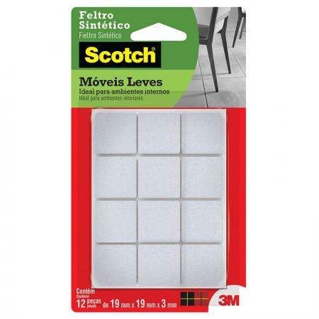 Feltro Scotch branco - quadrado - P - 3M