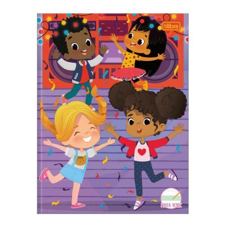 Caderno brochura capa dura caligrafia com pauta Verde - 40 folhas - Sapeca - Casa na Árvore - Tilibra