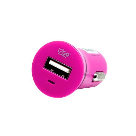 Carregador veicular - 1 saída usb - I2GCAR012 - Colorido - Vermelho - I2GO