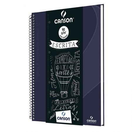 Caderno universitário prof Escrita(Oxford) 80fls azul marinho Canson