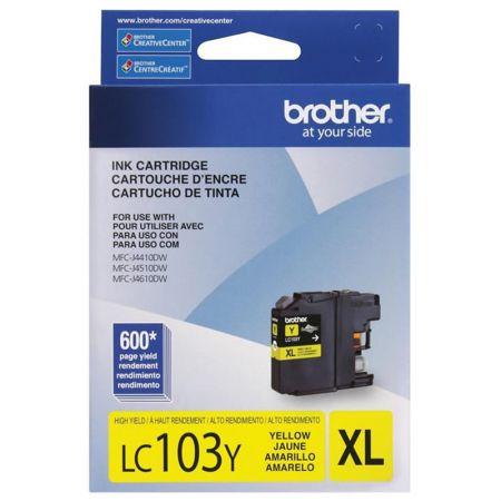 Cartucho Brother LC103Y - amarelo 600 páginas