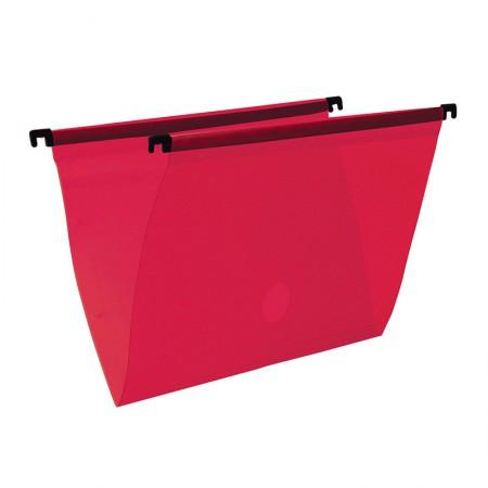 Pasta suspensa transparente - vermelho - 0005.U - Dello