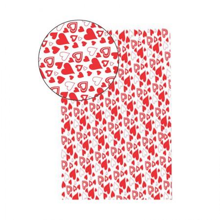 Placa de EVA 40X60cm - estampada coração branco - Seller