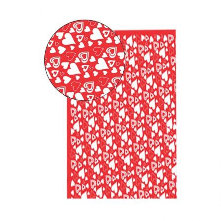 Placa de EVA 40X60cm - estampada coração vermelho - Seller