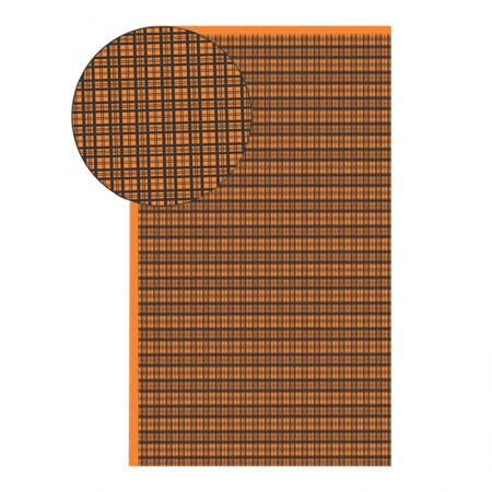 Placa de EVA 40X60cm - estampada xadrez laranja - Seller