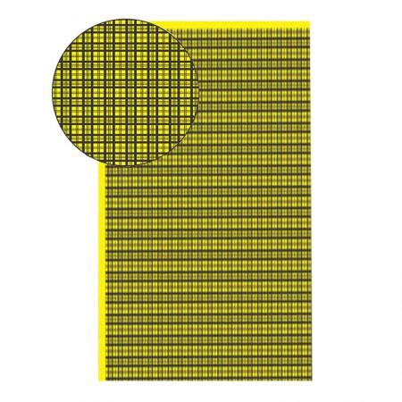 Placa de EVA 40X60cm - estampada xadrez amarelo - Seller