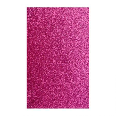 Placa de EVA 40x60cm - com glitter rosa escuro - Seller