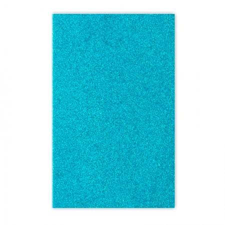 Placa de EVA 40x60cm - com glitter azul claro - Seller