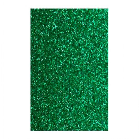 Placa de EVA 40x60cm - com glitter verde bandeira - Seller